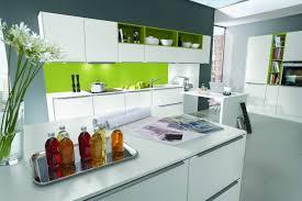 White Laminate Kitchen Cabinets Lacquer Brown Laminate Kitchen Cabinet With White Marble Counter