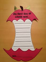 1st day of school craftivity words or sentences to describe the