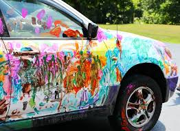 super fun art project for kids paint the car