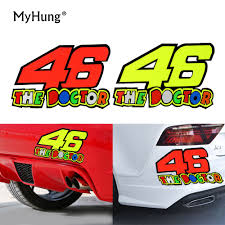 aliexpress com buy removable motorcycle 46 the doctor sticker 46