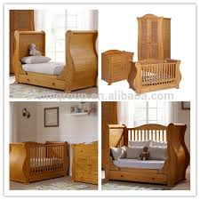 american styled antique solid wood bedroom baby sleigh bed crib