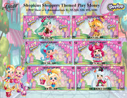 play money shopkins shoppers bonus coloring pages shopkins