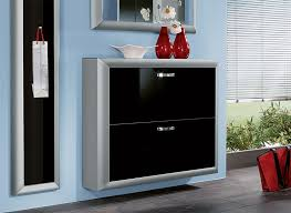 Wall Hung Shoe Cabinet Titan Wall Mounted Contemporary Shoe Cabinet In Various Finishes