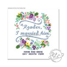 wedding quotes eyre reader i married him eyre quote modern floral wedding