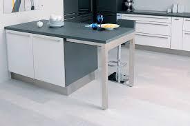 cuisine table encastrée quand la table de cuisine devient meuble
