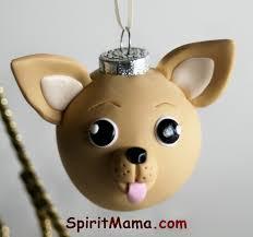 chihuahua round tree ornament dog breed art 22 00 via etsy