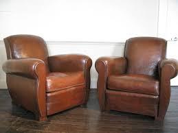Leather Armchairs Vintage Lauren Leather Tufted Club Chair In Leather Club Chairs Vintage