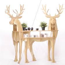deer home decor new j e wooden deer home decor coffee table king ii self built