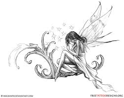 drawn fairy mythical creature pencil and in color drawn fairy