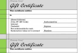 gift certificate template word free gift certificate template