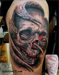 imagenes de calaveras hombres espectaculares tatuajes de calaveras y todo su significado