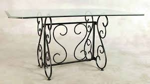 wrought iron dining table glass top wrought iron dining tables by grace