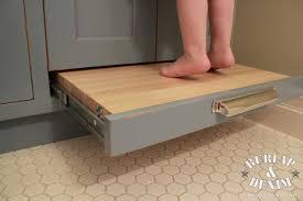 Pottery Barn Inspired Kids BathBurlap  Denim - Bathroom step