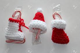 crochet tree ornaments stock photo picture and royalty
