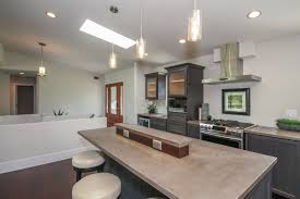 Kitchen Island Outlets by Kitchen Modern Concrete Countertops Multi Height Huge Island Nice
