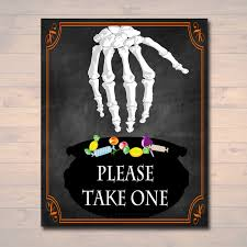 please take one halloween candy sign chalkboard halloween