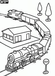 coloring pictures trains