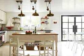 Coastal Inspired Kitchens - inspired kitchen design with unique light fixtures