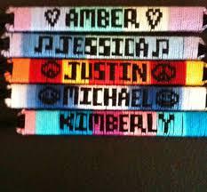 friendship bracelet with name images Custom made friendship bracelets jpg