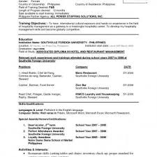 how to format a professional resume resume sle for philippines best of resume sle format for