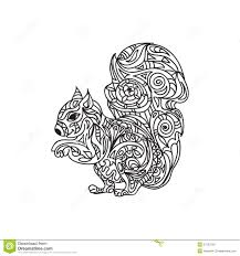 squirrel coloring page stock illustration image 57523750