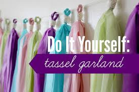 diy tassel garland plastic tablecloth rachel republic youtube