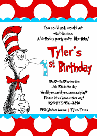 A Birthday Invitation Card Cat In The Hat Birthday Invitations Kawaiitheo Com