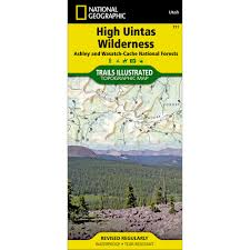 Utah Topo Maps by 711 High Uintas Wilderness Ashley And Wasatch Cache National