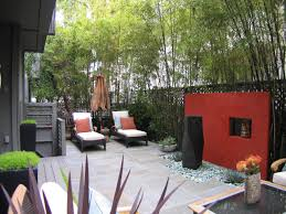 backyard privacy ideas backyard privacy red paint and fountain