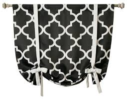 Tie Up Window Curtains Moroccan Print Tie Up Window Shade Contemporary Curtains By