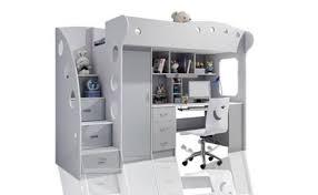 lit et bureau enfant lit enfant adolescent ligne capitonné mezzanine bedroom