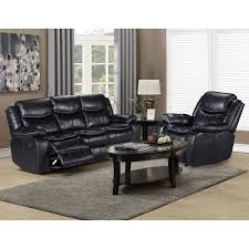 cloth reclining sofa chandler black leather gel fabric reclining sofa and chair