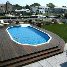 wrap around deck plans deck around semi inground pool wrap around pool deck design