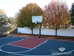 Backyard Tennis Courts by Versacourt Indoor Outdoor U0026 Backyard Basketball Courts