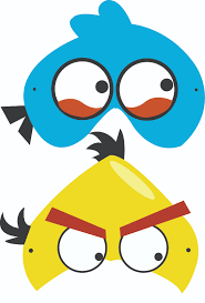 angry birds free printable masks luca u0027s b day party pinterest