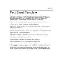 Event Fact Sheet Template 60 Beautiful Fact Sheet Templates Exles And Designs