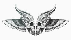 butterfly skull mirrored by cid228 on deviantart