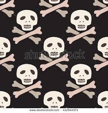 skull wrapping paper seamless pirate pattern skull crossbones stock vector