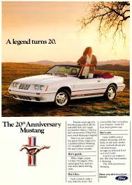 ford mustang ad 1984 ford mustang gt 20th anniversary ad cars today