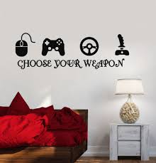 Photo Wall Stickers Gamer Vinyl Stickers Video Game Play Room Joystick Esports Wall