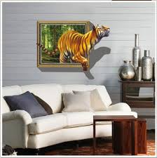 home interior tiger picture amazon com kappier 3d tiger jumping out of jungle peel