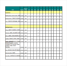 Maintenance Checklist Template Excel Maintenance Checklist Template 12 Free Word Excel Pdf