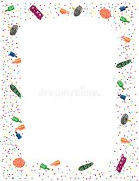 new years party poppers new years party theme frame stock illustration illustration