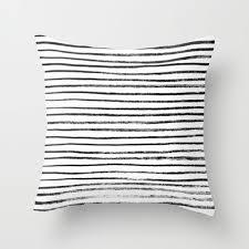 black white design modern throw pillows from society6 design milk regarding black and