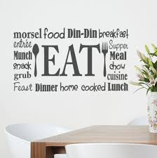 eat wall word vinyl decal kitchen decor restaurant wall zoom