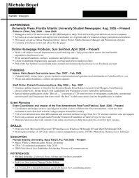 resume exles for college internships in florida journalism resume resume mistakes that doom college journalists in