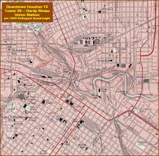 Downtown Houston Map Houston Tx Tower 26 Railfan Guide