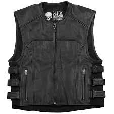 perforated leather motorcycle jacket black brand ice pick perforated biker vest leather motorcycle vest