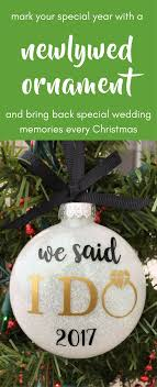 personalized wedding christmas ornaments our christmas ornament just married ornament wedding