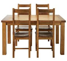 Dining Table And 4 Chairs Buy Collection Arizona Solid Pine Dining Table 4 Chairs Pine